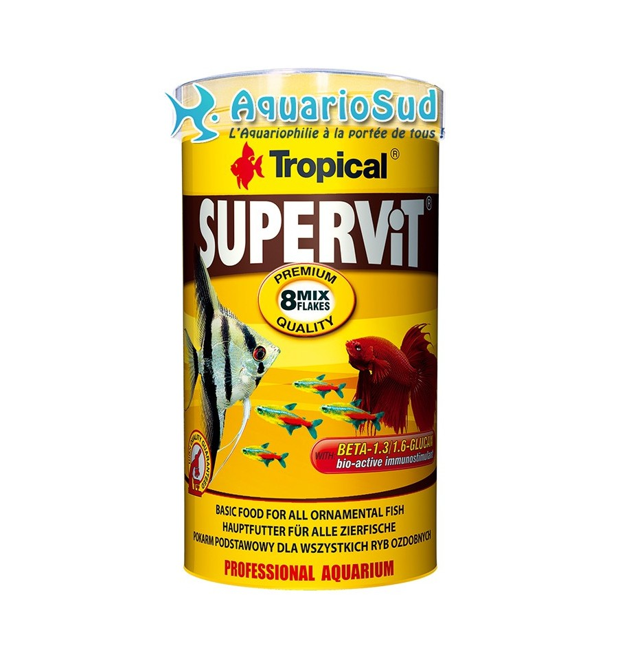 Tropical supervit 500 ml nourriture en flocons for Tropical nourriture poisson