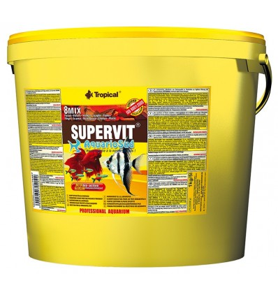 Tropical supervit 5 litres nourriture en flocons for Tropical nourriture poisson