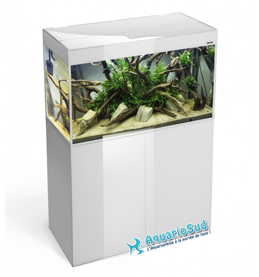 Aquael aquarium et meuble glossy blanc 80 125 litres for Aquarium 80 litres