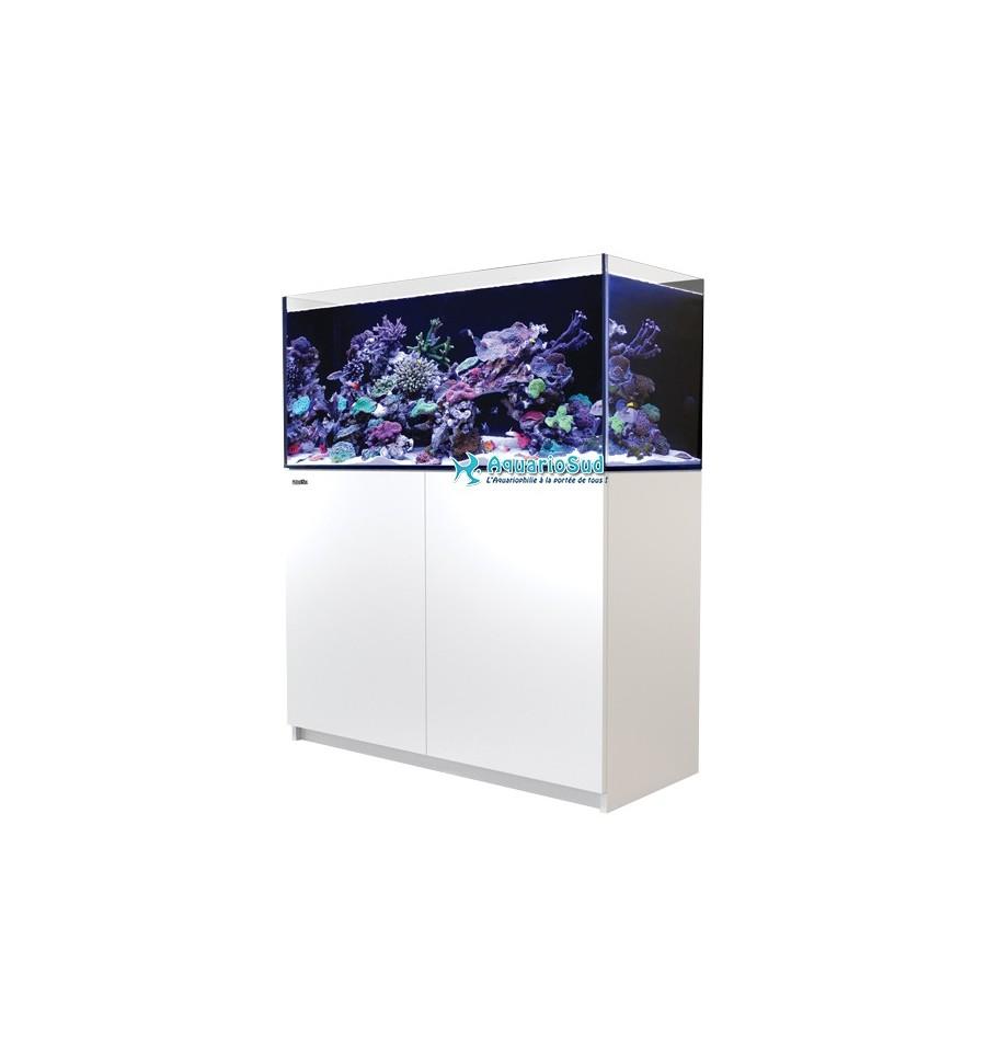 Aquarium complet red sea reefer 350 finition epoxy blanc - Aquarium 350 litres complet meuble et poissons ...