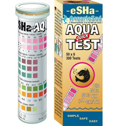 eSHa Aqua Quick Test / 50 Bandelettes - Test pas cher