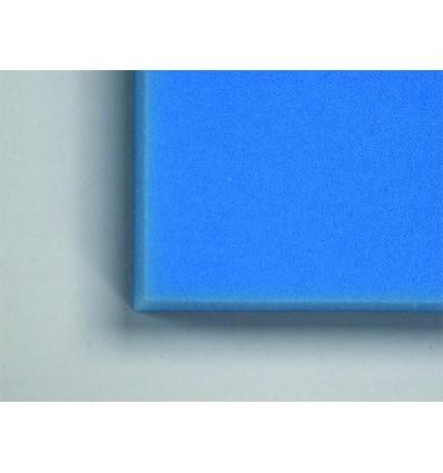 Plaque de Mousse bleue de filtration pour aquarium en 100x50x5 cm | Grain fin pour retenir les dernières petites impuretés.