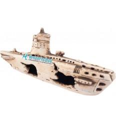 Epave sous-marin de 25x11x8cm - Décor céramique aquarium