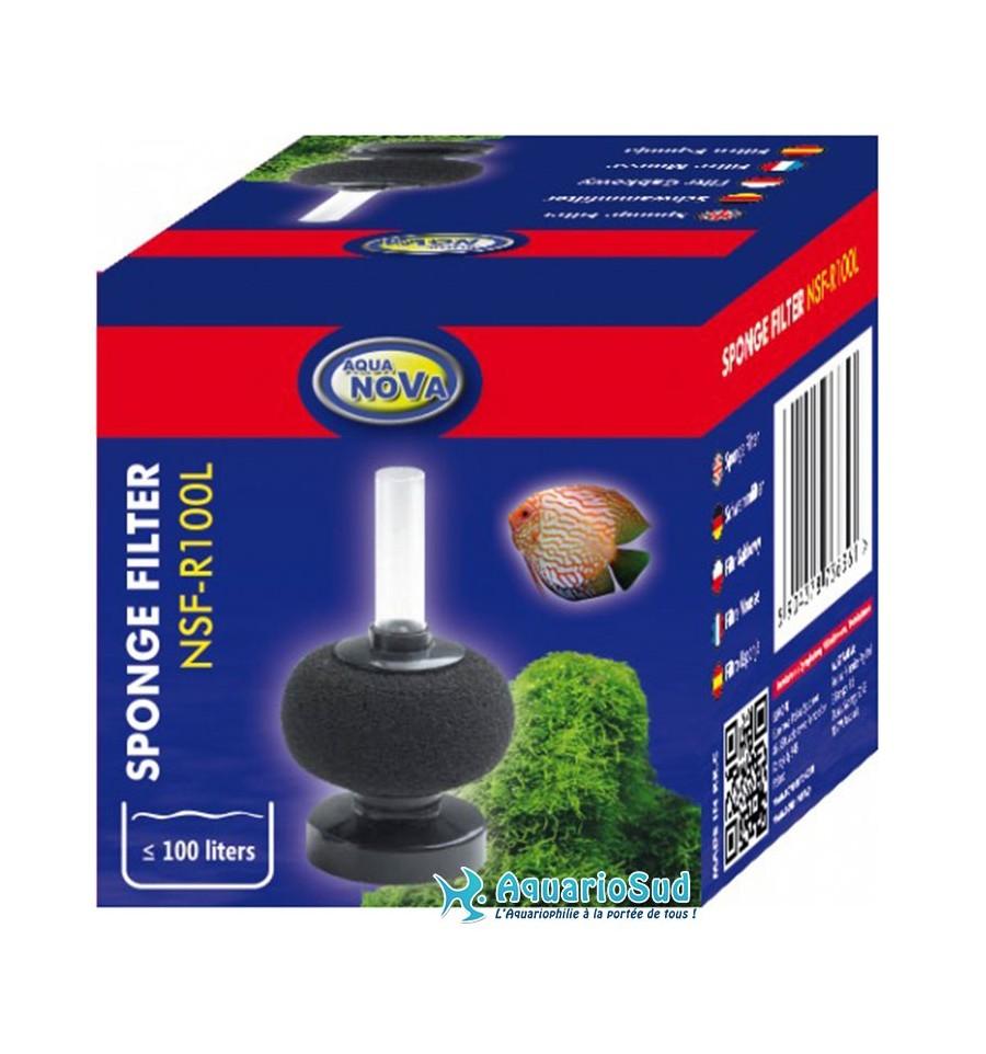 Filtre exhausteur aquanova nsf r100l id al pour invert br s for Filtre aquarium rond
