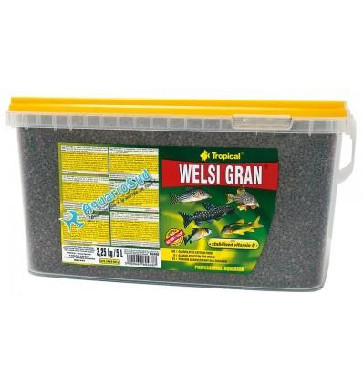 Nourriture PREMIUM TROPICAL Welsi Gran en 5 L - Nourriture sous forme de petites pastilles pour poissons de fond.