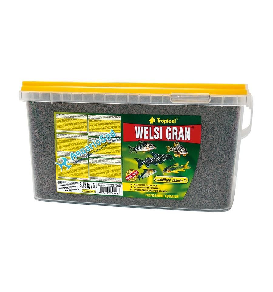 Tropical welsi gran en 5 litres nourriture pour poissons for Bloc de nourriture pour poisson
