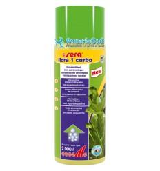 SERA Flore 1 Carbo - 500ml est un engrais liquide pour favoriser la croissance des plantes, pour traiter jusqu'à 2000 litres.
