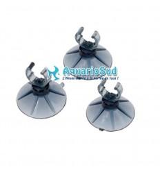 EBI - Lot de 3 ventouses avec clip pour tuyau d'aquarium ou canne de rejet d'un Ø 9/12 mm