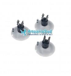 EBI - Lot de 3 ventouses avec clip pour tuyau d'air aquarium d'un Ø 4/6 mm