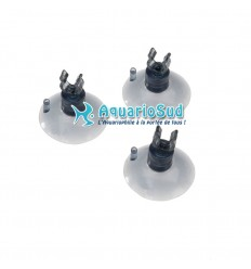 EBI - Lot de 3 ventouses avec clip pour tuyau Ø 9/12 mm