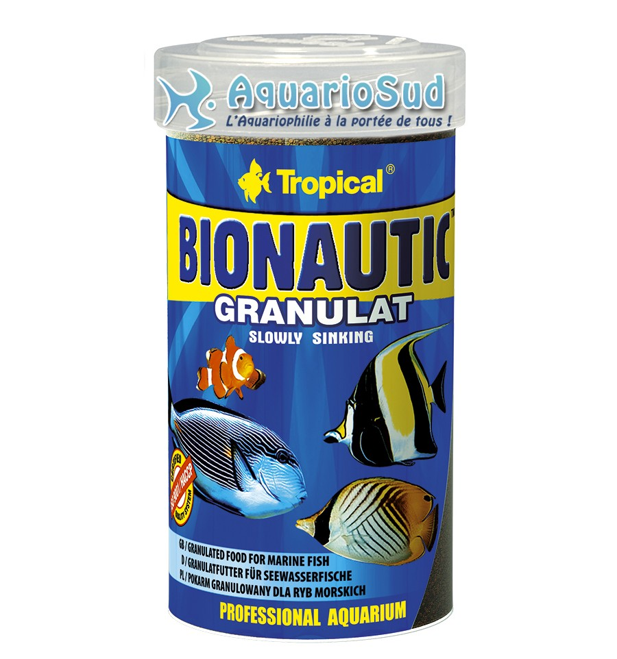 Tropical bionautic granulat 100 ml nourriture en granul s for Tropical nourriture poisson