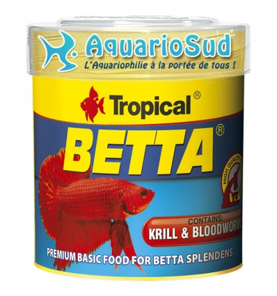TROPICAL Betta 50 ml - Nourriture pour Betta splendens et poissons de petite taille.