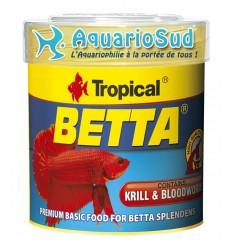 TROPICAL Betta - 100 ml - Nourriture pour combattants et petits poissons.