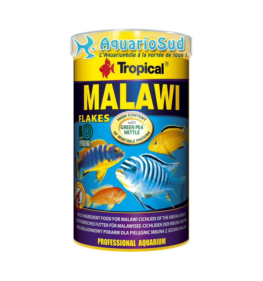 Nourriture en flocons tropical supervit 250 ml chez for Bloc de nourriture pour poisson