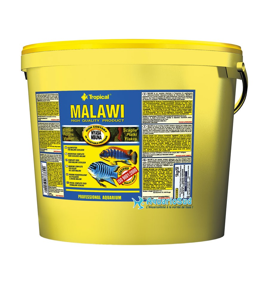Tropical malawi 5 litres nourriture cichlid s malawi mbuna for Nourriture aquarium