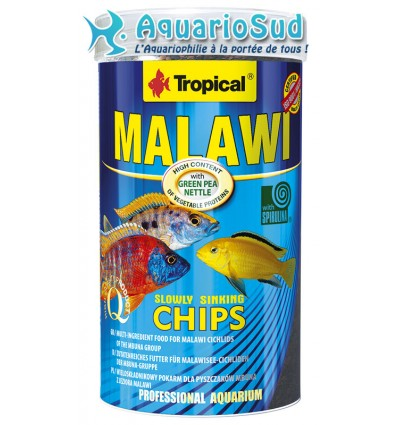 Tropical malawi chips 250ml nourriture cichlid s malawi for Tropical nourriture poisson