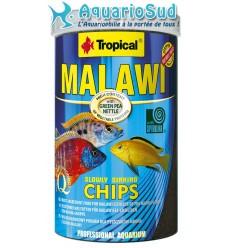 TROPICAL Malawi chips 1 litre - Nourriture sous forme de petites Chips pour cichlidés Malawi et Autres cichlidés herbivores