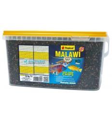 TROPICAL Malawi chips - 5 litres est une nourriture pour cichlidés Malawi et autres cichlidés herbiv