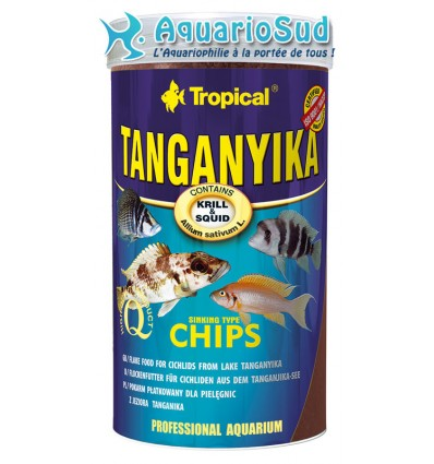 Tropical tanganyika chips 250ml nourriture cichlid s du for Tropical nourriture poisson