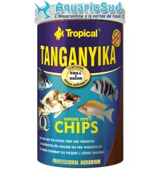 TROPICAL Tanganyika chips 1 litre : Nourriture pour Cichlidés du lac Tanganyika