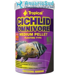 TROPICAL Cichlid Omnivore Medium Pellet - 1 litre