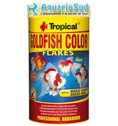 TROPICAL Goldenfish Color Flakes 250ml : Nourriture poissons rouges