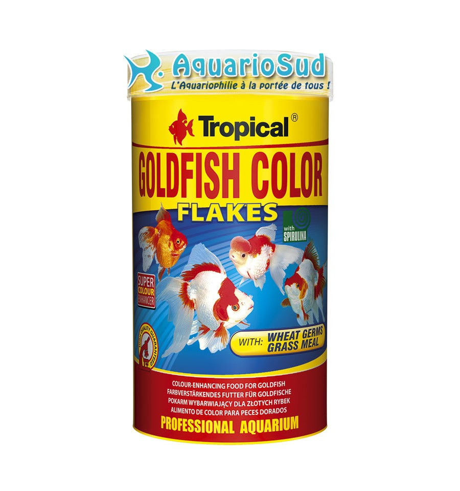 Tropical goldfish color 250ml nourriture pour poissons for Nourriture aquarium