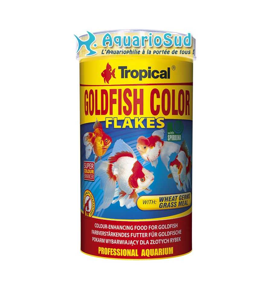 Tropical goldfish color 500ml nourriture pour poissons for Tropical nourriture poisson