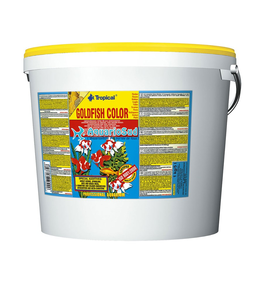 Tropical goldfish color 5 litres nourriture pour for Tropical nourriture poisson