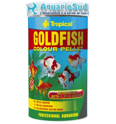 Tropical goldenfish colour pellet 250ml for Tropical nourriture poisson