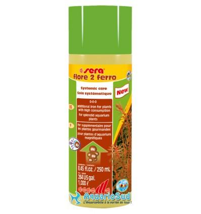 SERA flore 2 ferro - 250ml apport en fer pour le développement de couleurs éclatantes des plantes