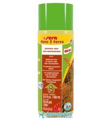 SERA flore 2 ferro - 500ml apport en fer pour le développement de couleurs éclatantes des plantes