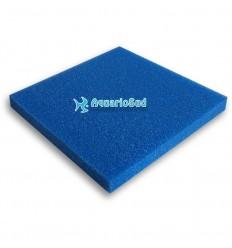 Plaque de Mousse bleue 100x100x5 cm | Grain gros pour retenir les résidus de plantes, feuilles etc...