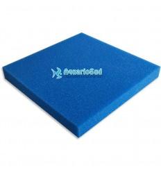 Plaque de Mousse bleue 100x100x5 cm | Grain moyen pour retenir les impuretés.