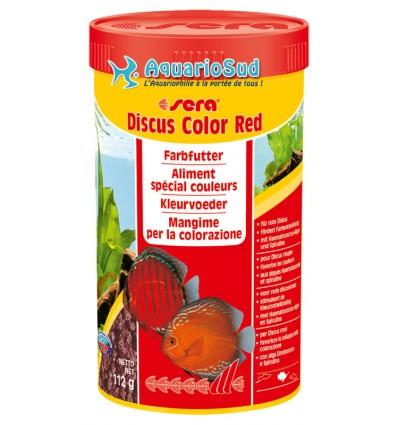 SERA Discus Color Red 10 litres pour intensifier le rouge sur la robe des poissons