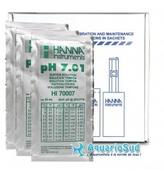 HANNA HI70007P - Solution tampon pH 7.01 - 25 sachets de 20 mL