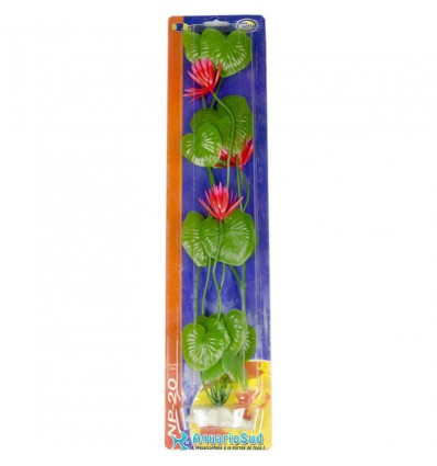 AQUA NOVA Nénuphar - Plante artificielle - Hauteur 50 cm