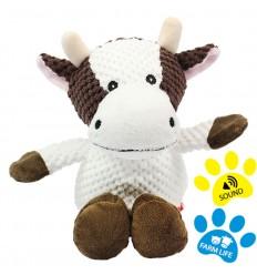 Peluche couinante pour chien : Vache - 32 cm