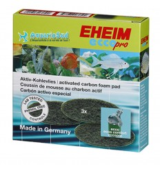 EHEIM Coussins de charbon actif pour Filtre EHEIM Ecco