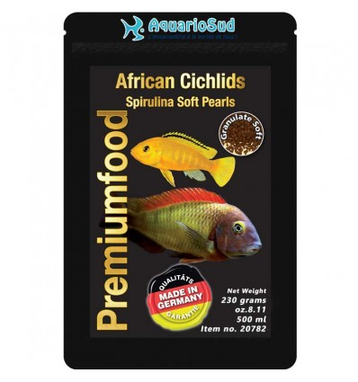 DISCUSFOOD African Cichlids Spirulina Pearls - 230gr
