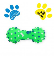Jouet pour chien Haltère Vert - 10.5cm