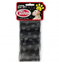 PETNOVA Recharge pour Distributeur de sacs - 4x 20pcs - Noir