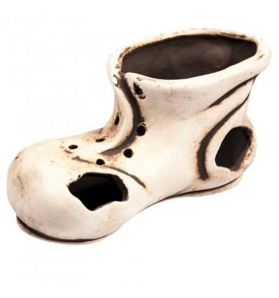 Décor en céramique - Vieille chaussure de 19x10x9cm
