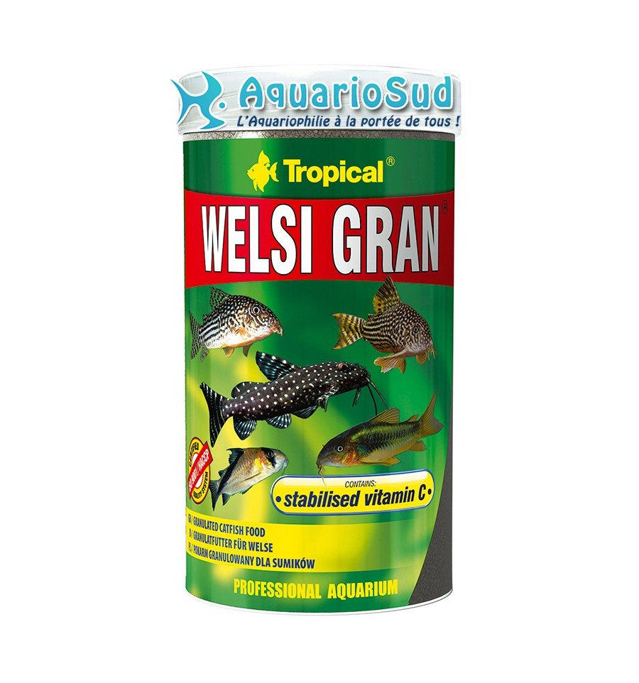 Tropical welsi gran 250 ml nourriture pour poissons d for Tropical nourriture poisson