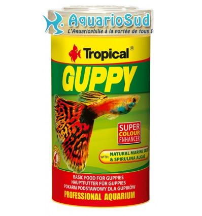 TROPICAL - Nourriture en flocons pour Guppy & poissons ornement (250ml)