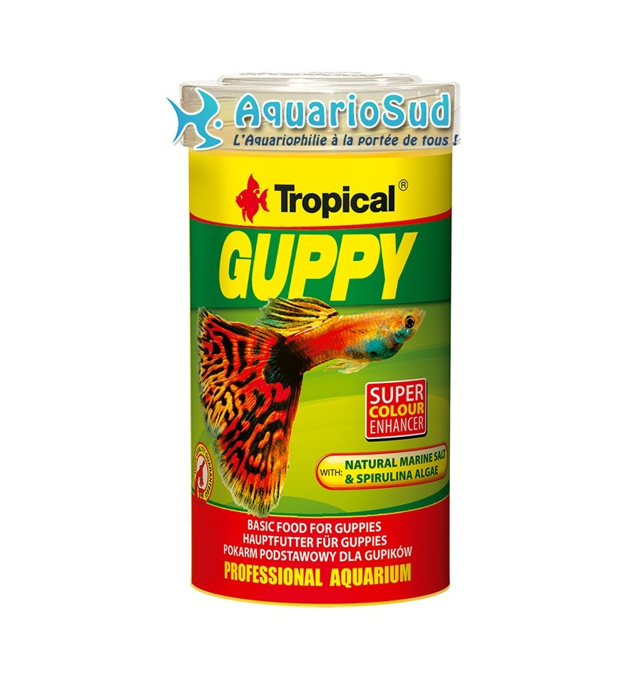 Tropical guppy 250ml for Tropical nourriture poisson