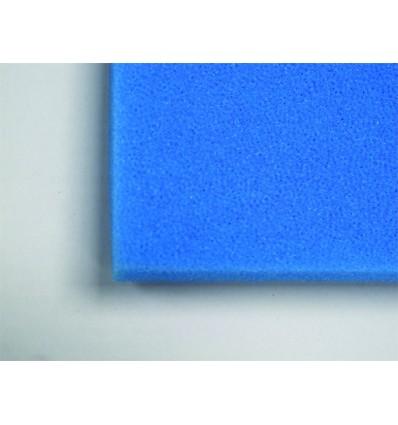 Plaque de Mousse bleue 100x50x5 cm | Grain moyen pour retenir les impuretés.