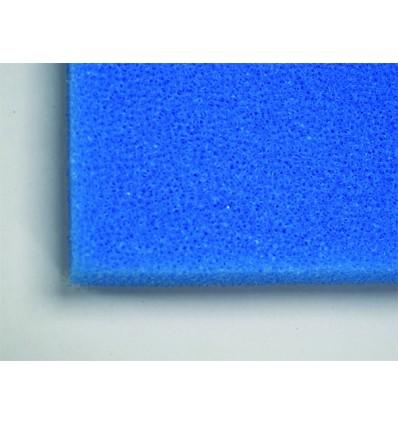 Plaque de Mousse bleue 100x50x5 cm | Gros grain pour retenir les grosses impuretés.
