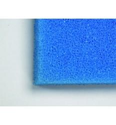 Plaque de Mousse bleue 100x50x5 cm | Très gros grain pour retenir les résidus de feuilles, plantes etc...
