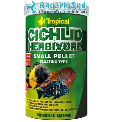 TROPICAL - Cichlid Herbivore Small Pellet (1L)